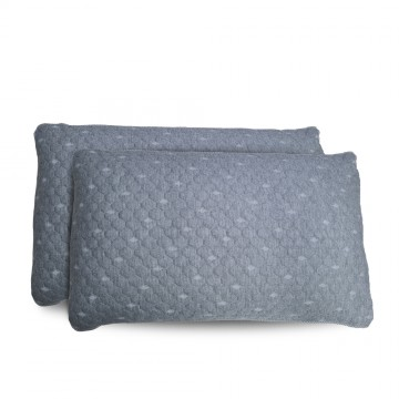 Charcoal memory foam pillow